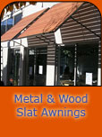Wood Slats & Metal Awnings